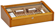 Vega (mahogany) - Deluxe glass top humidor